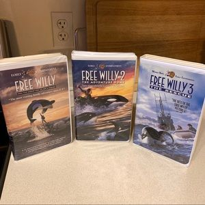 Free Willy Set (1,2, and 3!) in Clamshell Cases